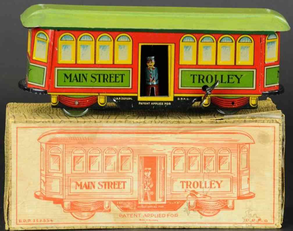 nifty manufacturing blech strassenbahn main street trolley