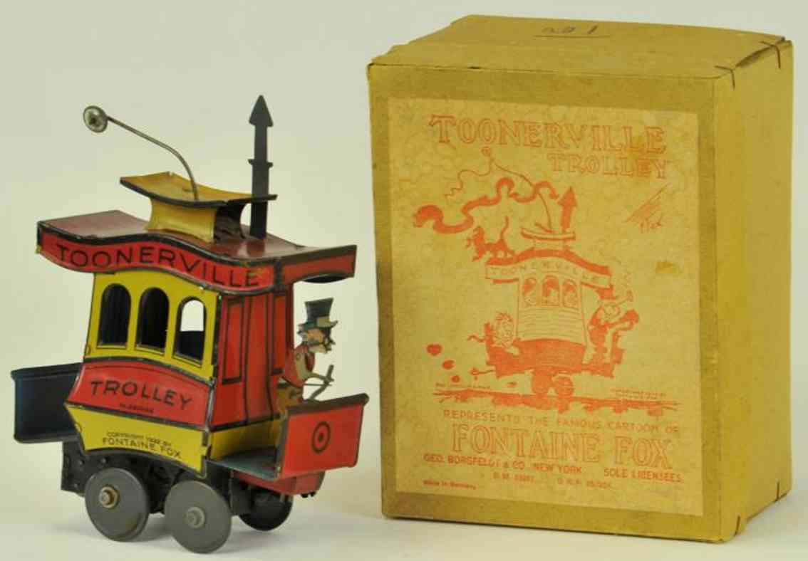 nifty manufacturing company tin toy tram toonerville trolley