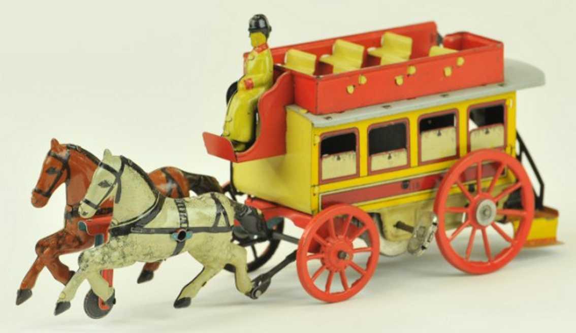 orobr 118 blech spielzeug strassenbahn zwei pferde