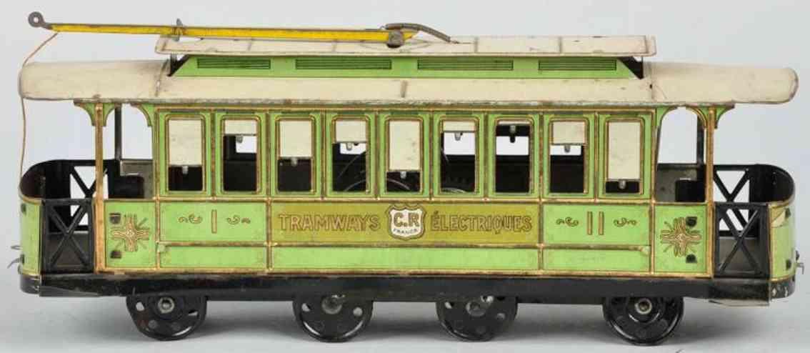charles rossignol 260 blech spielzeug strassenbahn uhrwerk tramways electriques gruen