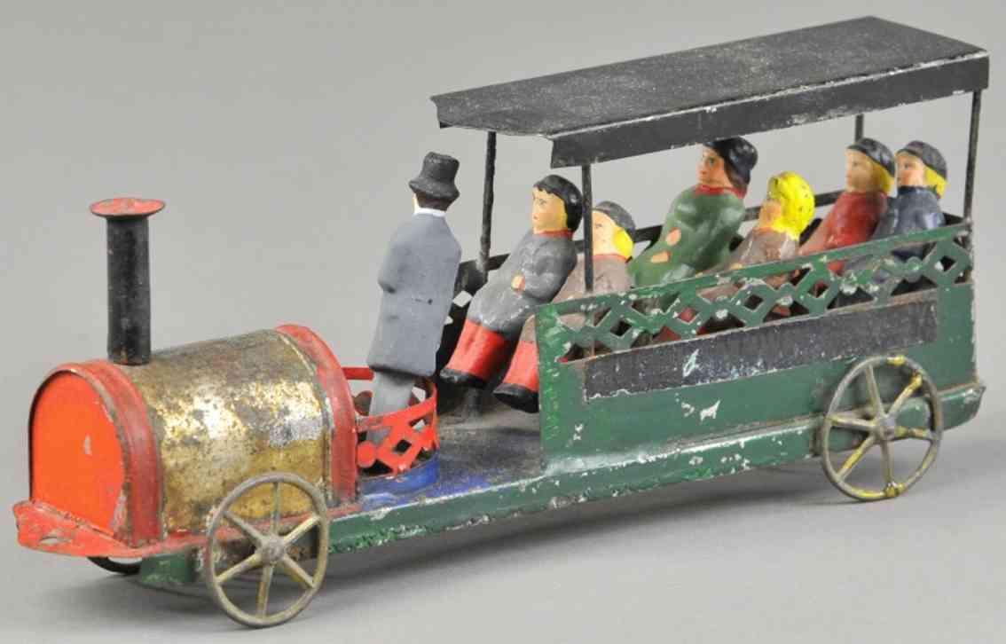 blech franzoesische strassenbahn französische sommerwagen dampflokomotive