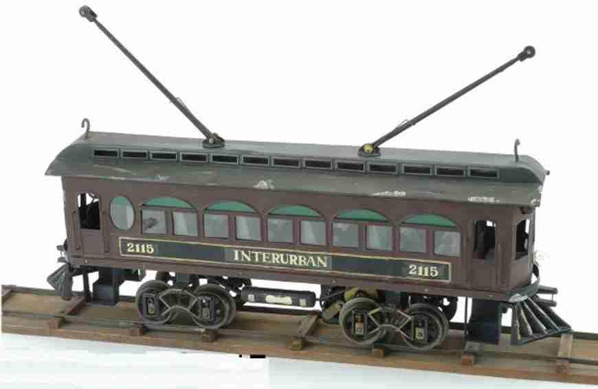 voltamp 2115 blech spielzeug interurban eleketrisch angetriebene strassenbahn