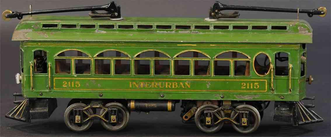 voltamp 2115 Interurban blech spielzeug strassenbahn oliv
