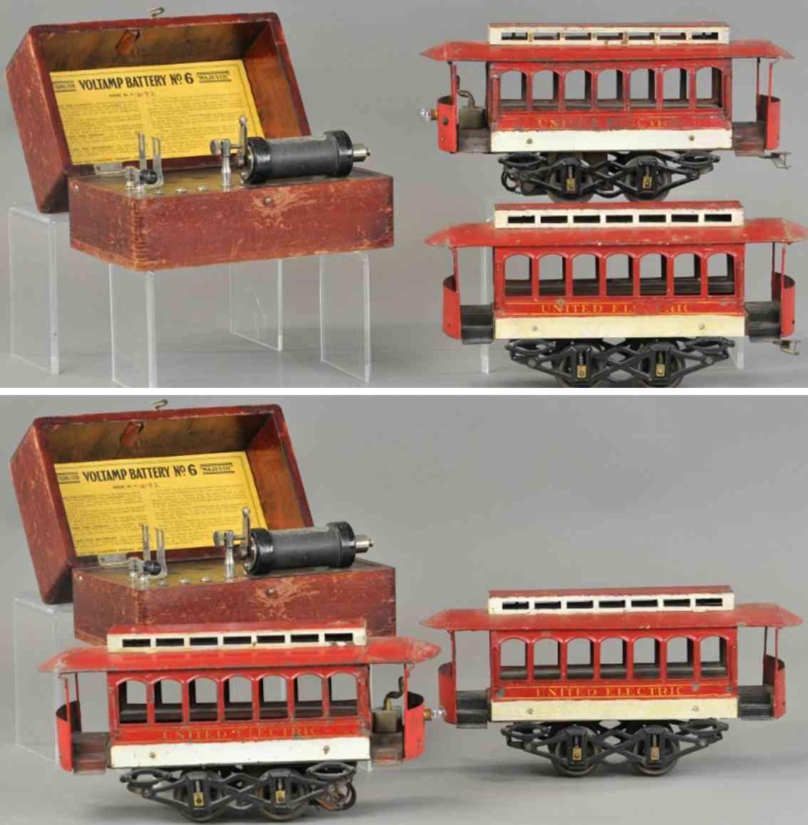 voltamp strassenbahn 2120 antriebswagen anaeänger 2122 batterie 6