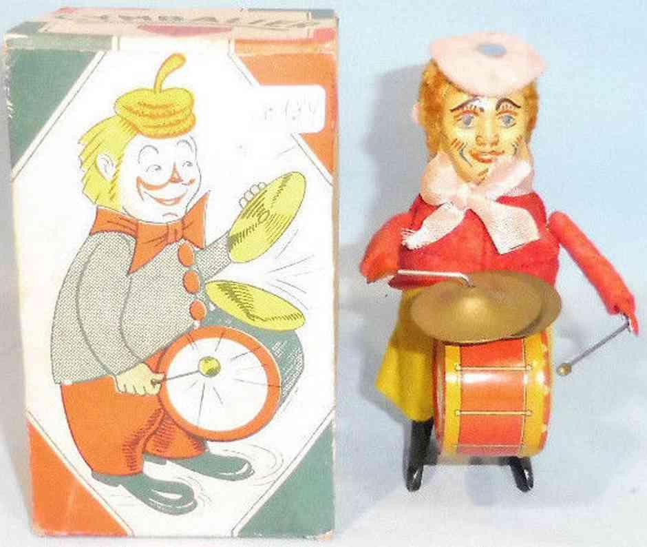sfa 721 blech filz spielzeug clown als tanzfigur  trommel