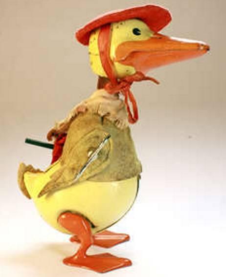 Schuco 496 Tanzfigur Donald Duck mit Schirm