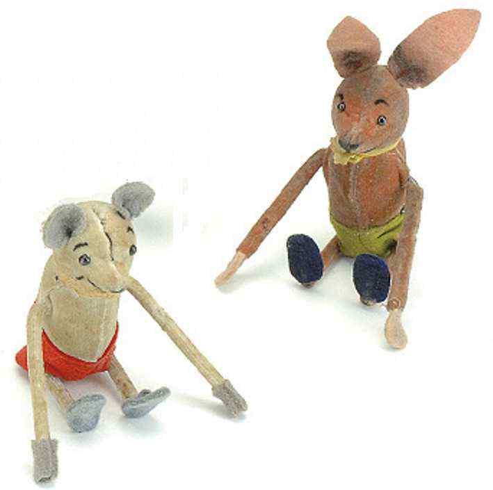 Schuco 870 884 Dance Figure Caricature mouse with clockwork
