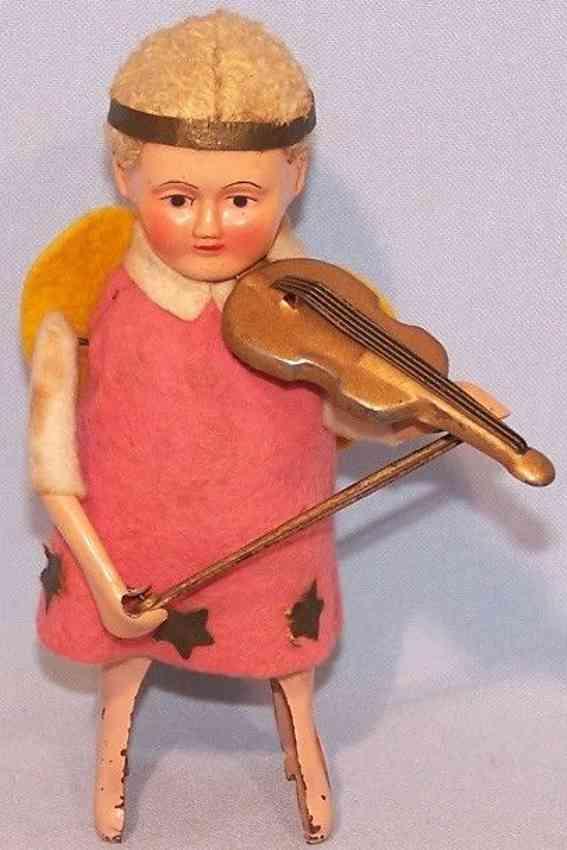 schuco 987/3 tin felt dance figure angel with violin clockwork