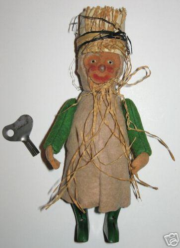 schuco 924 tin dance figure gnome goblin dwarf with bast beard