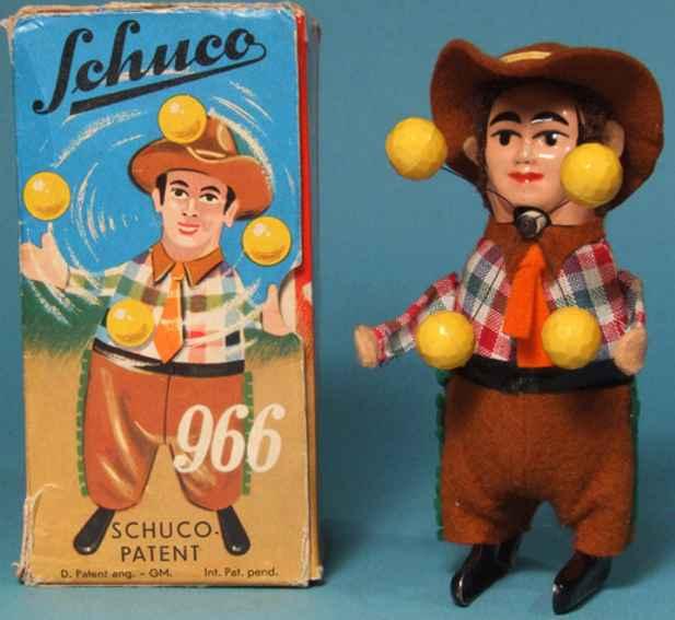 Schuco 966 Tanzfigur Jonglierender Cowboy