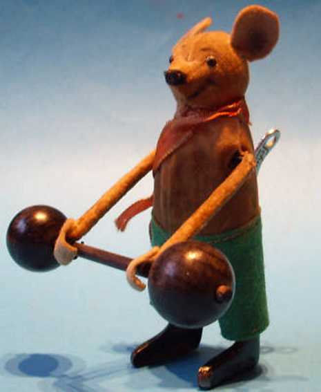 schuco 966 dance figure mouse with dumb-bells
