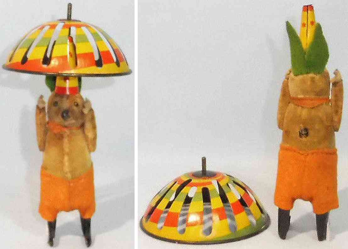schuco 970 tin dance figure dancing mouse balancing umbrella