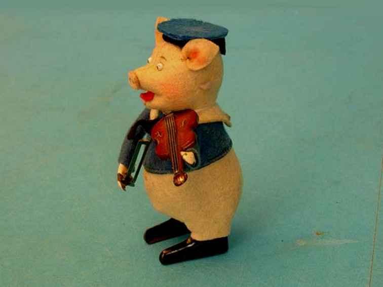 schuco 980/2 tanzfigur schweinchen als violinspieler