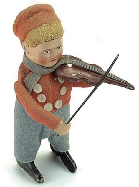 schuco 978/2 tin dance figure dutch man with violin and bow