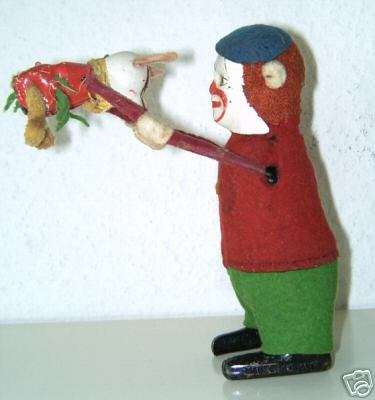schuco 983 tin figure clown mouse dancing couple