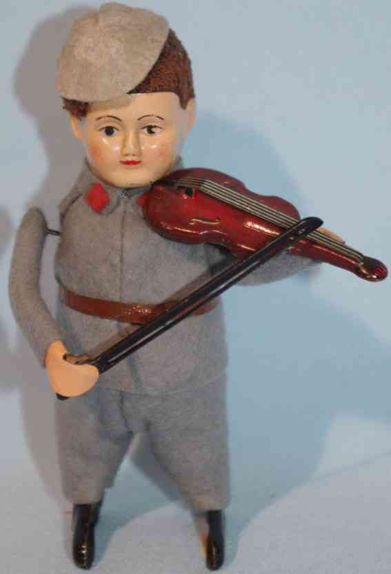 schuco 985/2 blech filz tanzfigur deutscher soldat mit violine