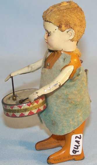 schuco 987/1 tin dance figure angel with drum clockwork