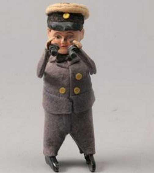 Schuco 989 Dance Figure Captain with binoculars