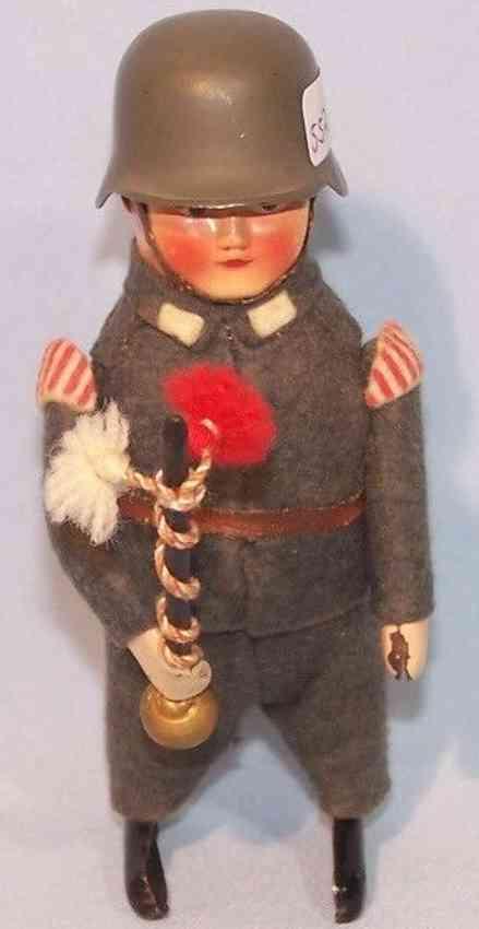 schuco 991/9 blech tanzfigur soldat faschist tambourmajor uhrwerk