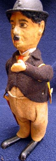schuco 940 tin dance figure tin windup charlie chaplin figure with cane