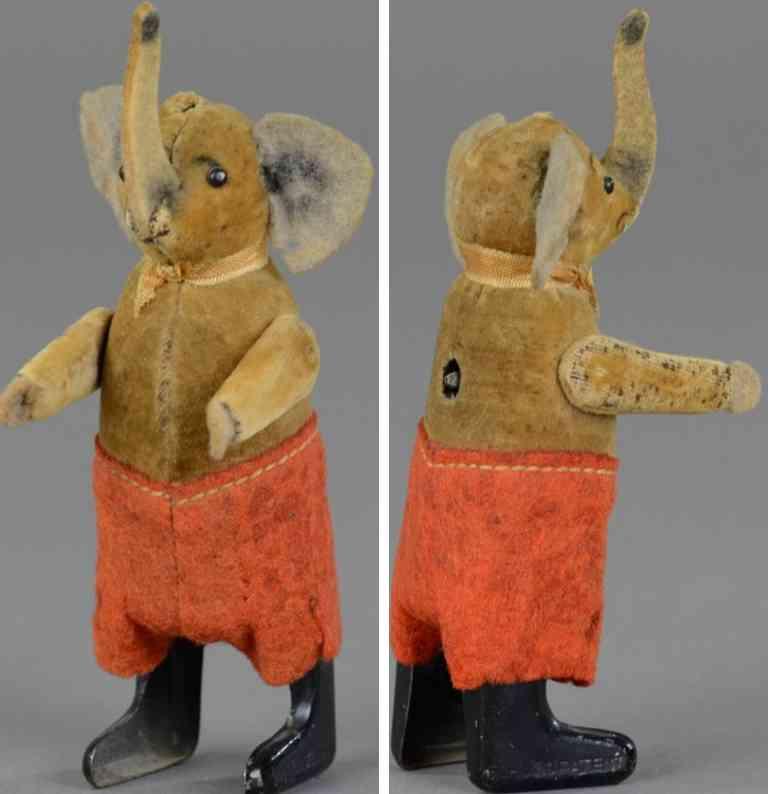 schuco blech tanzfigur elefant mit uhrwerk