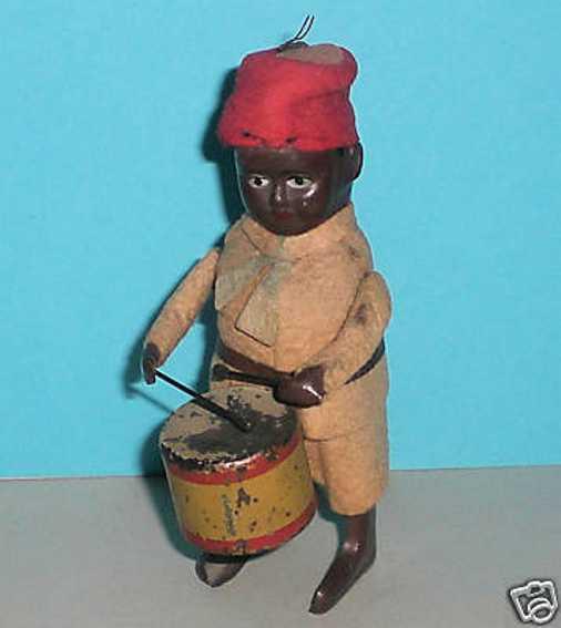 Schuco Tanzfiguren Neger-Soldat mit Trommel