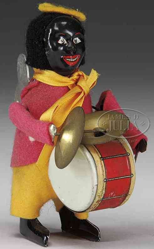 Schuco Dance Figure Black clown drummer