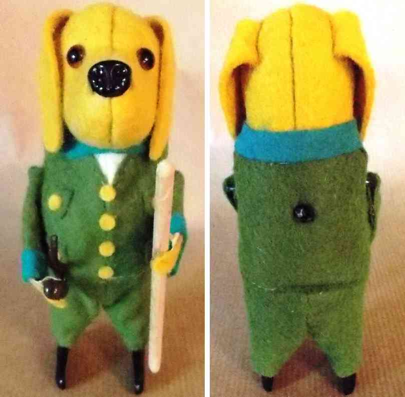 Schuco Stehender Hund mit Pfeife