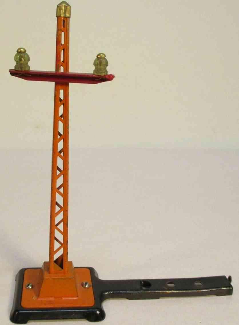 lionel 060 spielzeug eisenbahn telegrafenmast anschluss an spur-o-schiene