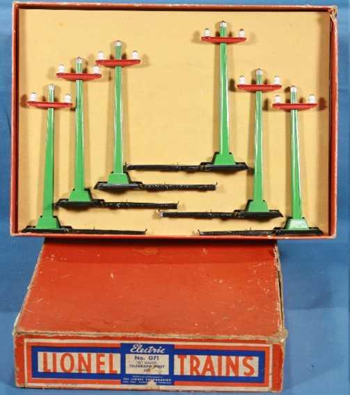 lionel 71 railway toy telegraph set green poles