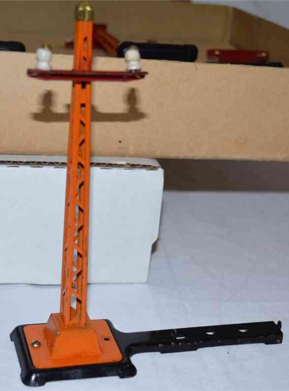 lionel 71 spielzeug eisenbahn telegrafenset orange masten standard gauge