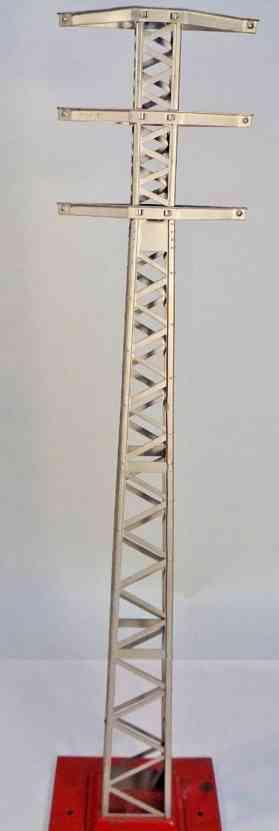 lionel 94 spielzeug eisenbahn hochspannungsmast aluminium rot standard gauge