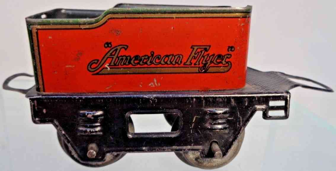 american flyer toy company 119 railway toy tender t red green black gauge
