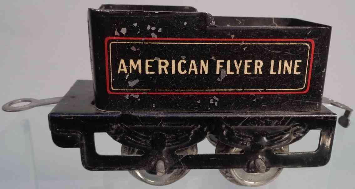 american flyer 120 spielzeug eisenbahn tender schwarz spur 0