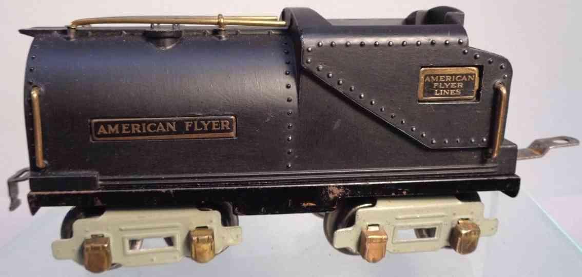 american flyer toy company 3301 railway toy tender black gauge 0