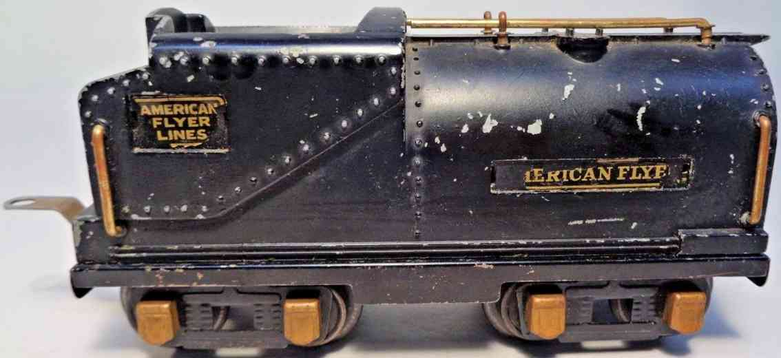 american flyer toy company 3301 railway toy tender black brass gauge 0