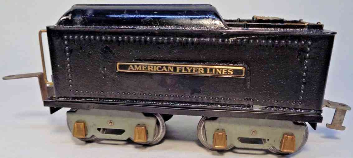 american flyer toy company 4671 spielzeug eisenbahn tender tender #4671; 4-achsig; aus druckguss bemalt in schwarz mit