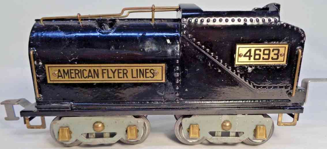 american flyer toy company 4693 railway toy tender bandebilt oil type black standard gauge