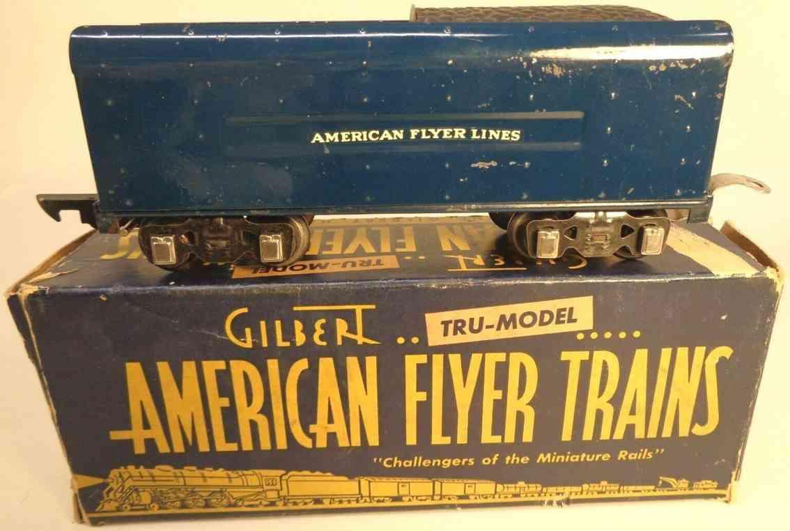 american flyer toy company 555c railway toy tender blue gauge 0