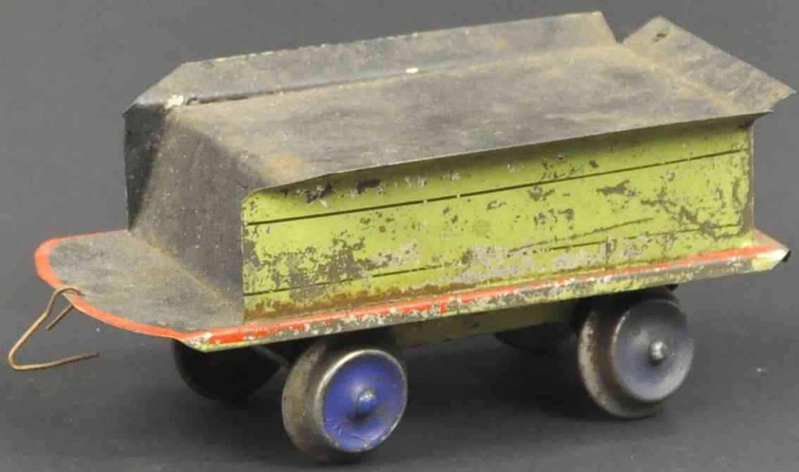 beggs eugene railway toy tin tender green