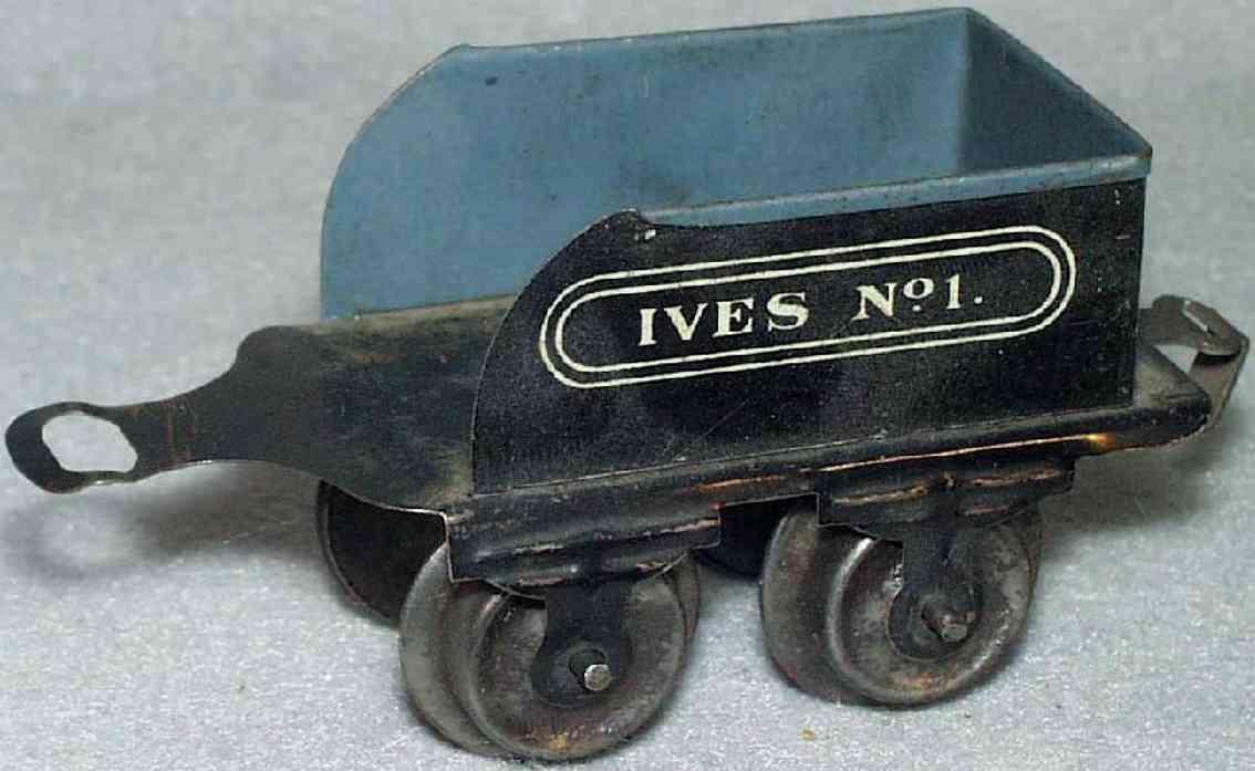 ives 1 spielzeug eisenbahn tender schwarz weiss spur 0