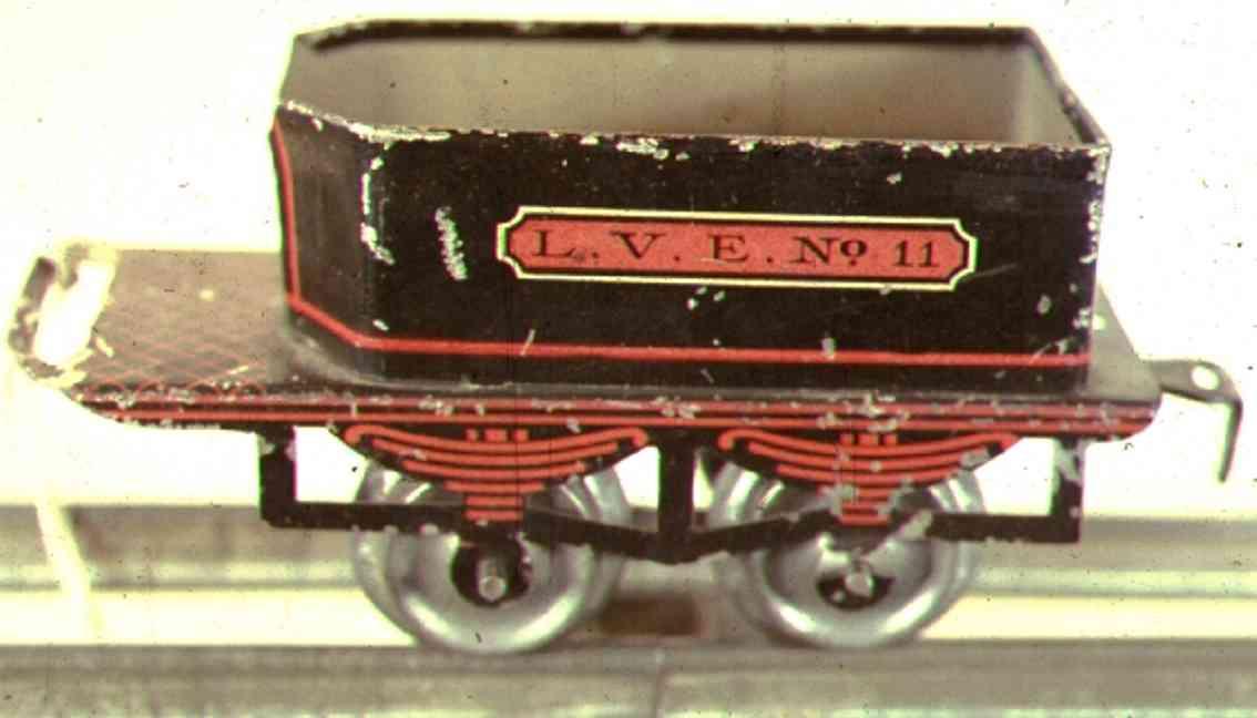 ives 11 1903 spielzeug eisenbahn tender 2-achsig schwarz spur 0