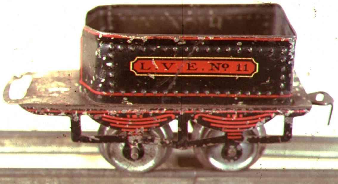 ives 11 1905 spielzeug eisenbahn tender 2-achsig schwarz spur 0