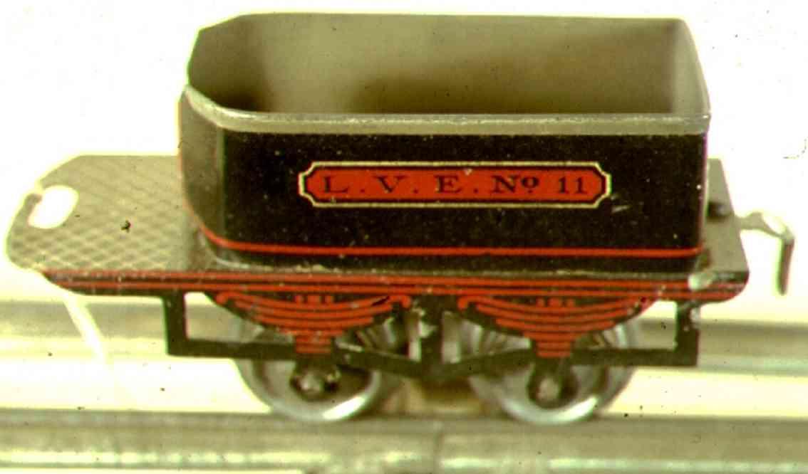 ives 11 1908 spielzeug eisenbahn tender 2-achsig schwarz spur 0 lve