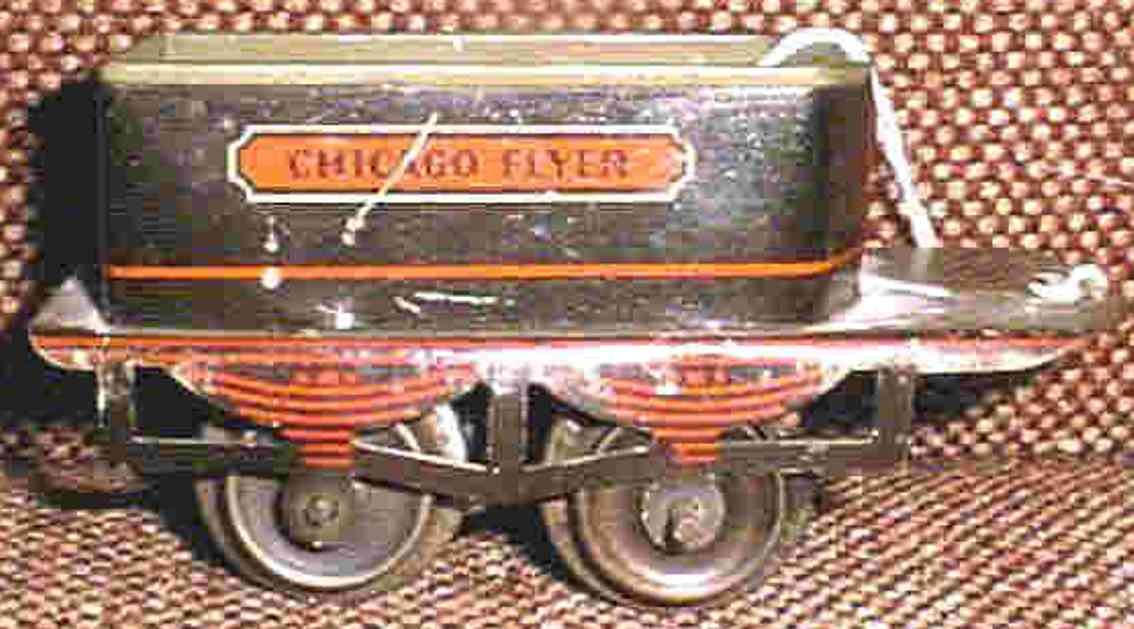 ives 11 1908 spielzeug eisenbahn tender 2-achsig schwarz spur 0 chicago flyer