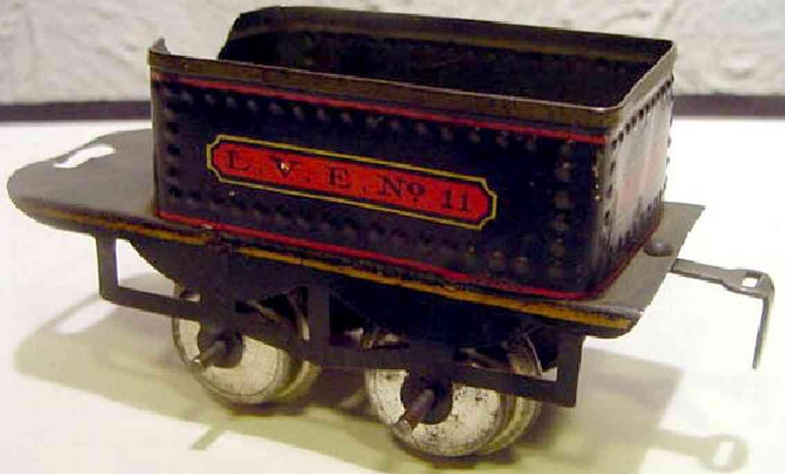 ives 11 1909 spielzeug eisenbahn tender 2-achsig schwarz spur 0