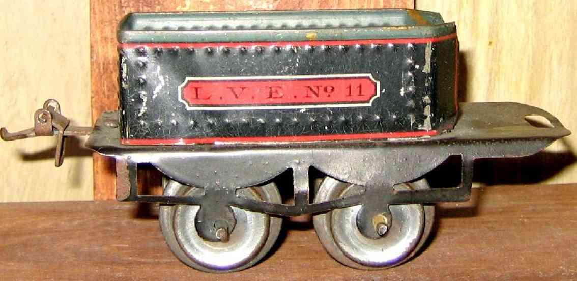 ives 11 1912 spielzeug eisenbahn tender 2-achsig schwarz spur 0