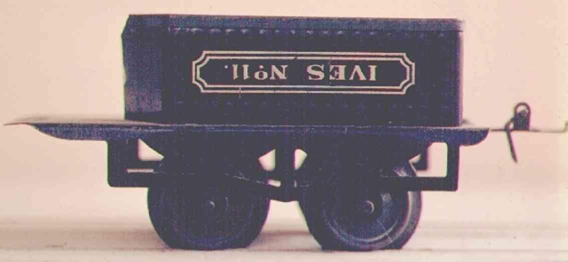 ives 11 1913 spielzeug eisenbahn tender 2-achsig schwarz spur 0
