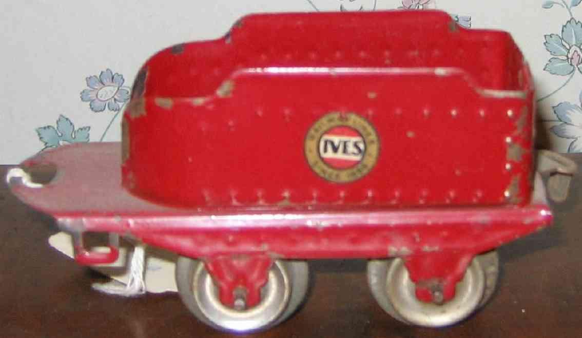 ives 11 1930 spielzeug eisenbahn tender 2-achsig rot spur 0