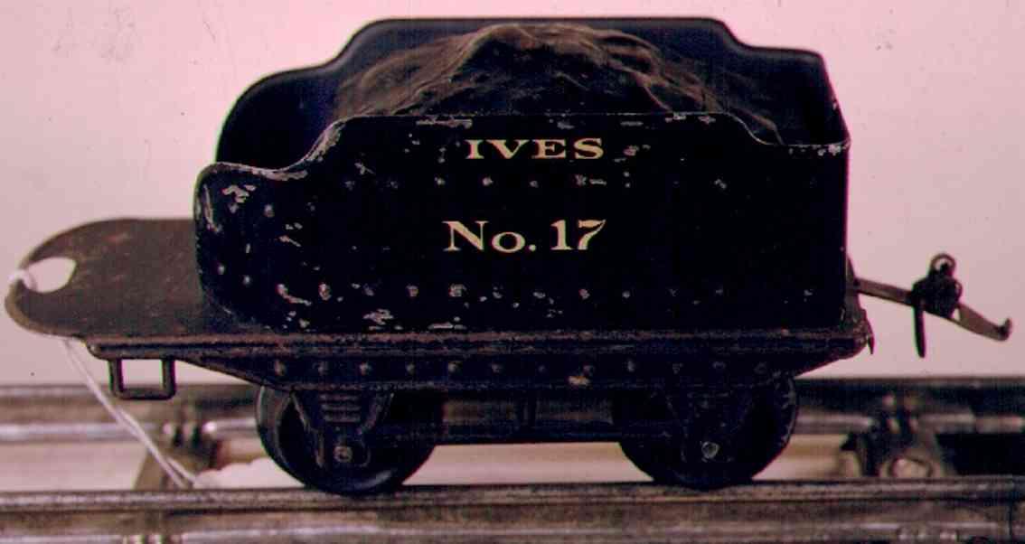 ives 17 1915 spielzeug eisenbahn tender weisse aufschrift spur 0